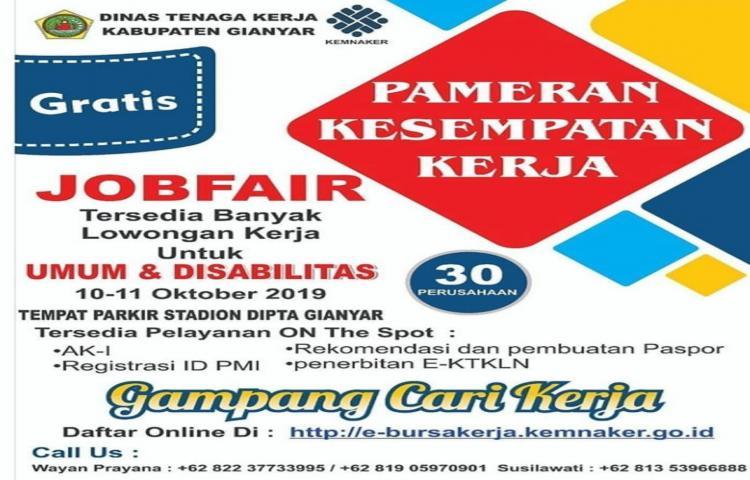 JOB Fair Kabupaten Gianyar Tahun 2019