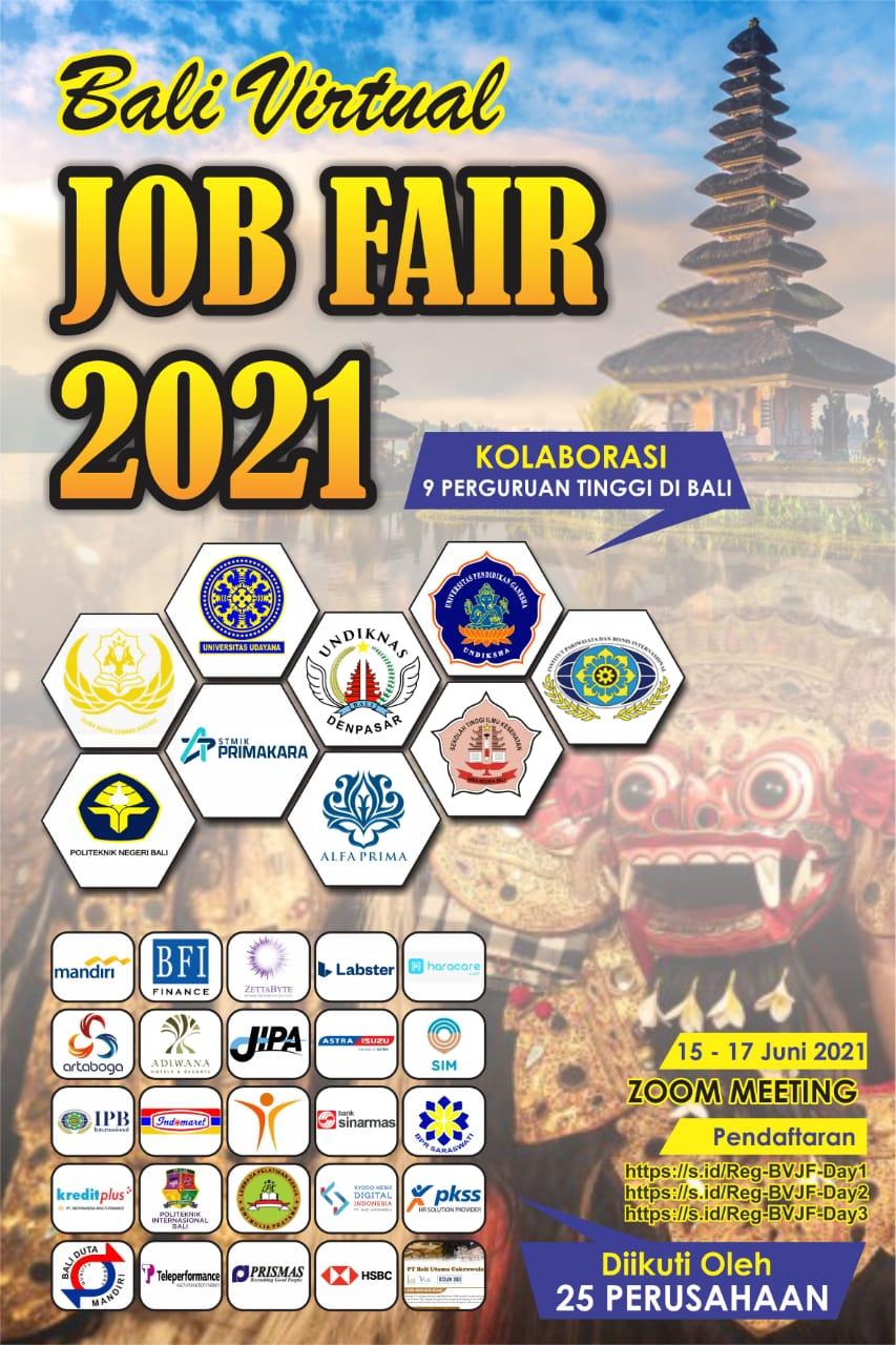 BALI VIRTUAL JOB FAIR TAHUN 2021