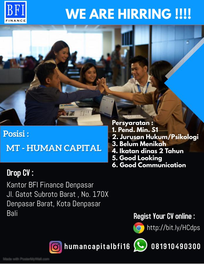 Lowongan Kerja PT. BFI Finance Indoensia Tbk